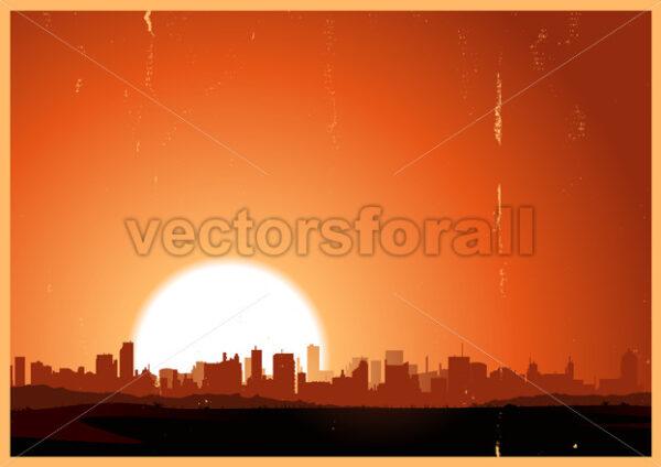 Summer Sunrise City - Vectorsforall