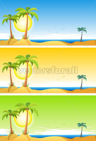 Summer Tropical Beach Set - Vectorsforall