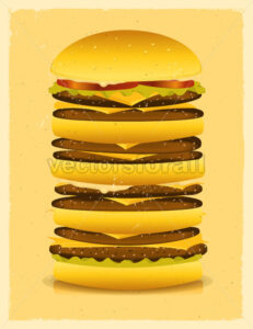 Super Big Burger - Vectorsforall