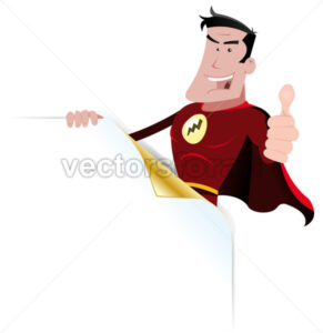 Super Hero Holding Sign - Benchart's Shop