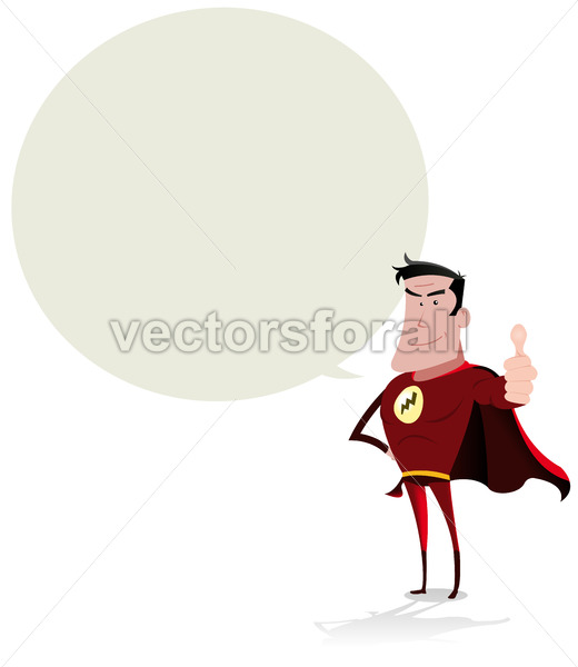 Super Hero Speech Bubble - Benchart's Shop