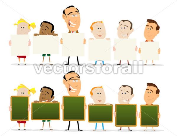 Teachers And Child Classroom Set - Vectorsforall