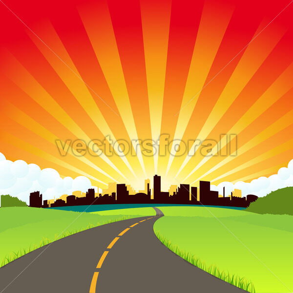 The Road To The City - Vectorsforall