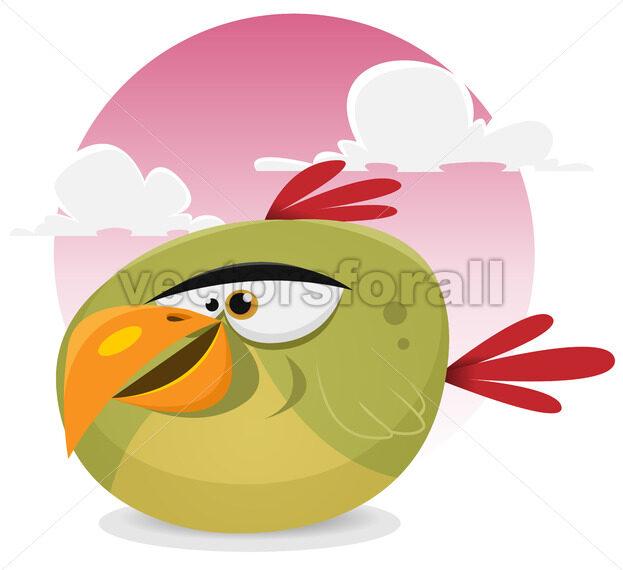 Toon Exotic Bird - Vectorsforall