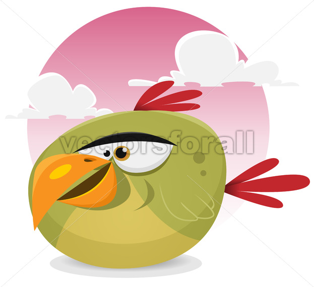 Toon Exotic Bird - Vectorsforall