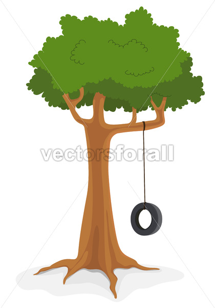 Tree With swing - Vectorsforall