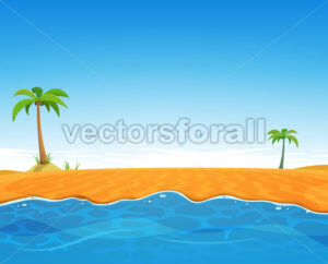 Tropical Summer Beach - Vectorsforall