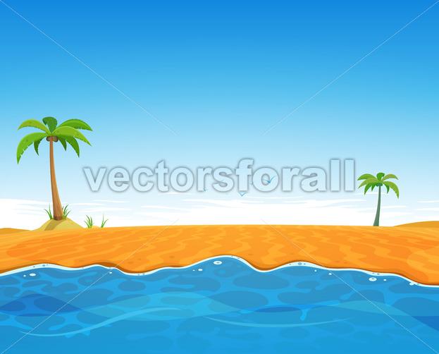 Tropical Summer Beach - Vectorsforall