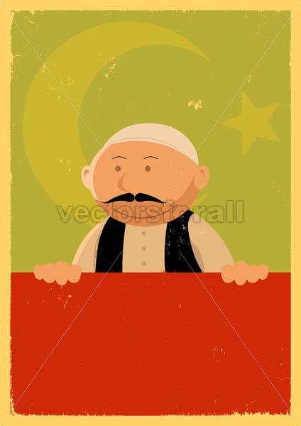 Turkish Cook Banner - Vectorsforall