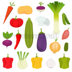 Vegetables Icons Set - Benchart's Shop