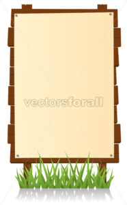 Vertical Wood Billboard - Benchart's Shop