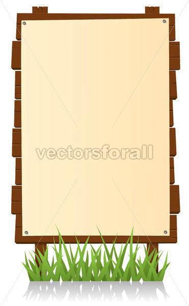 Vertical Wood Billboard - Benchart's Shop