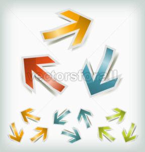 Vintage Arrows Icons Loops - Vectorsforall