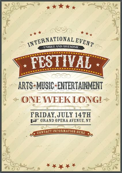 Vintage Festival Poster - Vectorsforall