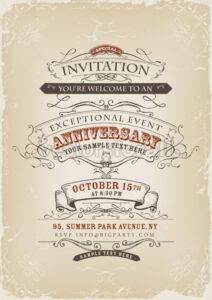 Vintage Invitation Poster - Vectorsforall