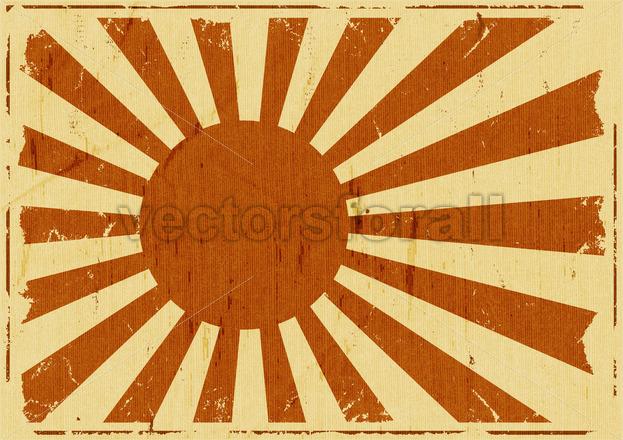 Vintage Japan Flag Landscape Background - Vectorsforall
