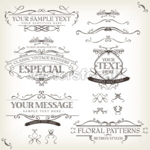 Vintage Old Labels Banners And Frame - Vectorsforall