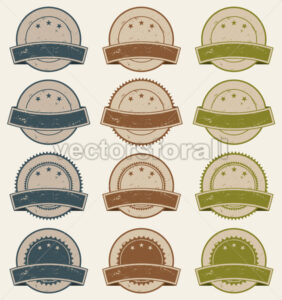 Vintage Retail Badges, Awards And Banners - Vectorsforall