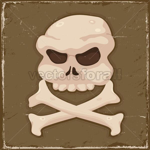 Vintage Skull And Cross Bones - Vectorsforall