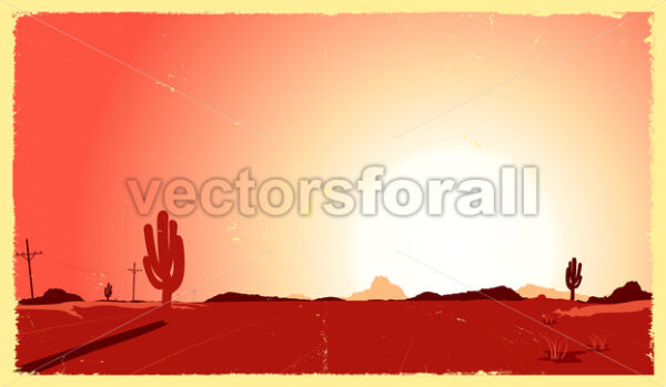 Western Desert Heat - Vectorsforall