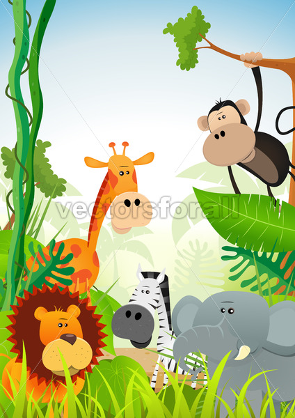 Wild Animals Background - Benchart's Shop