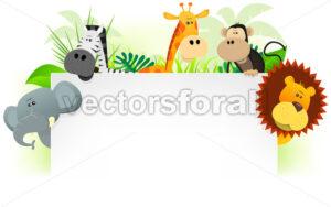 Wild Animals Letterhead Background - Benchart's Shop