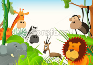 Wild Animals Postcard Background - Benchart's Shop