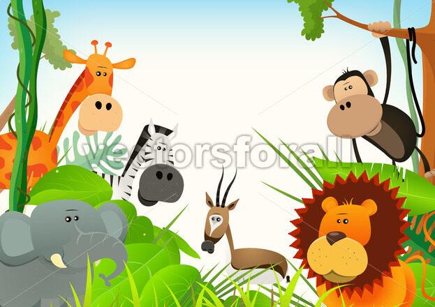 Wild Animals Postcard Background - Benchart's Shop