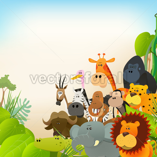 Wildlife Animals Background - Vectorsforall