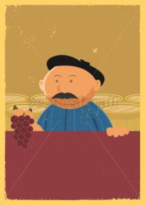 Winemaker Holding Grape Vine Poster - Benchart's Shop