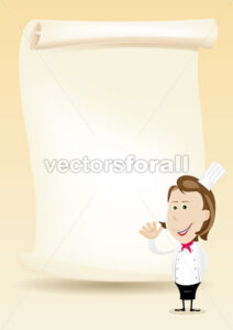 Woman Chef Restaurant Poster Menu background - Benchart's Shop