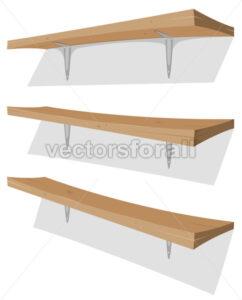 Wood Shelf On The Wall - Vectorsforall