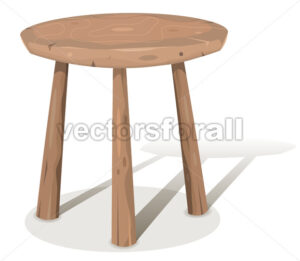Wood Stool - Vectorsforall