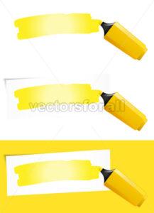 Yellow Felt Tip Pen - Benchart's Shop