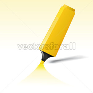 Yellow Felt Tip Pen - Benchart's Shop