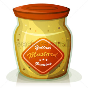 Yellow Mustard Pot - Vectorsforall