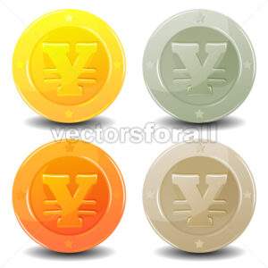 Yen Coins Set - Vectorsforall