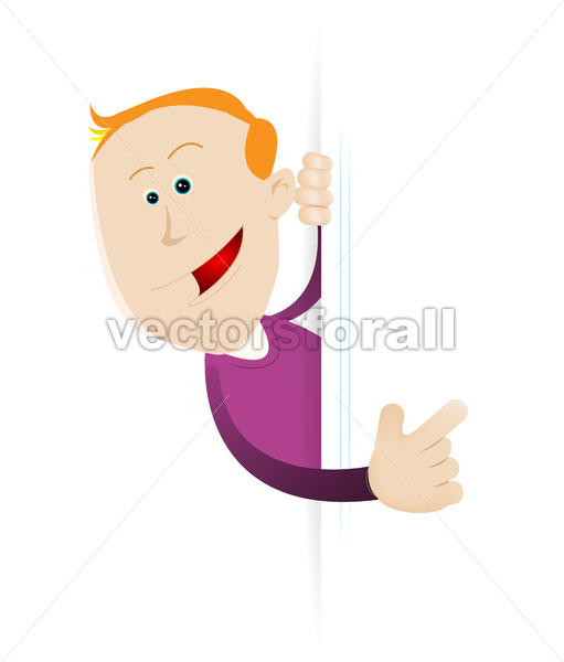 Young Boy Holding Blank Sign - Vectorsforall