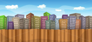 cartoon-colored-cityscape-sky-background.eps - Benchart's Shop