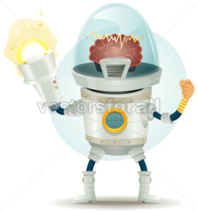 cartoon-comic-droid-super-hero-eleven.eps - Benchart's Shop