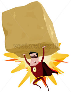 cartoon-comic-red-super-hero-throwing-rock.eps - Benchart's Shop