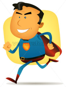 cartoon-comic-super-hero-running.eps - Benchart's Shop
