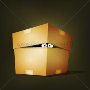 cartoon-creature-inside-cardboard-box.eps - Benchart's Shop