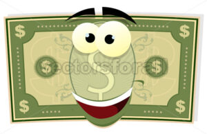 cartoon-dollar-bill-character.eps - Benchart's Shop