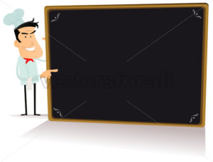 cartoon-food-menu-on-blackboard.eps - Benchart's Shop