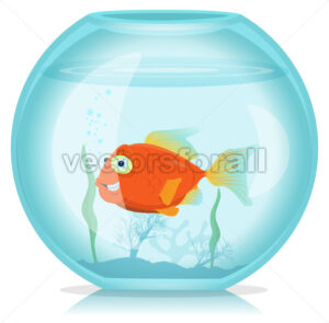 cartoon-goldfish-in-aquarium.eps - Benchart's Shop