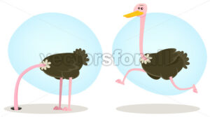 cartoon-ostrich-character.eps - Benchart's Shop