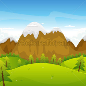 cartoon-rounded-mountain-landscape.eps - Benchart's Shop