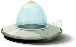 cartoon-rounded-spaceship.eps - Benchart's Shop