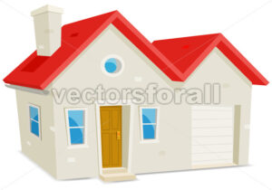 cartoon-small-house-and-garage.eps - Benchart's Shop